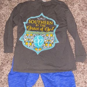 Simply southern shirt and sweat pants